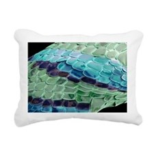 Snake skin, SEM - Rectangular Canvas Pillow