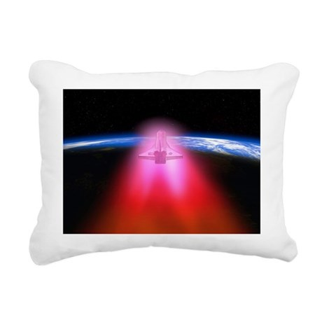 Space shuttle re-entry, artwork - Rectangular Canv