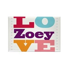 I Love Zoey Rectangle Magnet