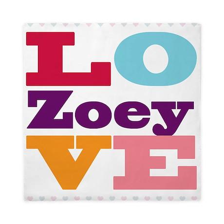 I Love Zoey Queen Duvet