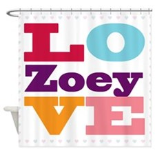 I Love Zoey Shower Curtain