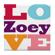 I Love Zoey Tile Coaster