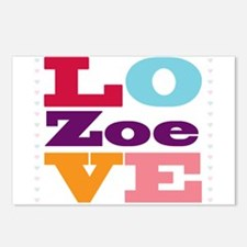 I Love Zoe Postcards (Package of 8)
