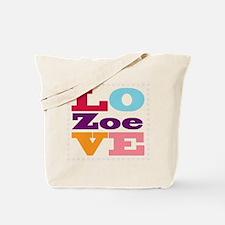 I Love Zoe Tote Bag