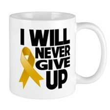 Never Give Up Appendix Cancer Mug