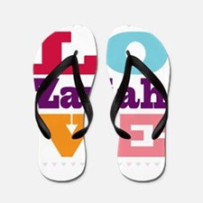 I Love Zariah Flip Flops