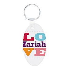I Love Zariah Keychains