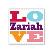 "I Love Zariah Square Sticker 3"" x 3"""