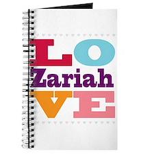 I Love Zariah Journal