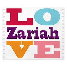 I Love Zariah King Duvet