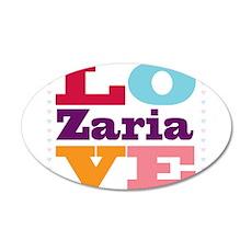 I Love Zaria Wall Decal