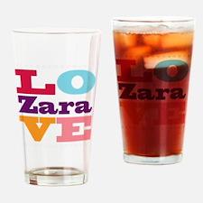 I Love Zara Drinking Glass