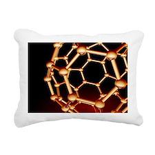 Buckminsterfullerene molecule - Rectangular Canvas