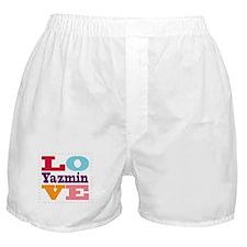 I Love Yazmin Boxer Shorts