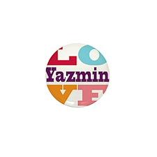 I Love Yazmin Mini Button