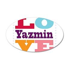 I Love Yazmin Wall Decal