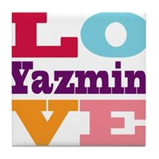 I Love Yazmin Tile Coaster