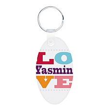 I Love Yasmin Keychains