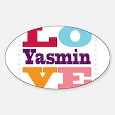 I Love Yasmin Sticker (Oval)
