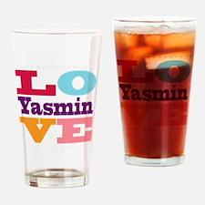 I Love Yasmin Drinking Glass