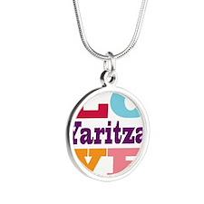 I Love Yaritza Silver Round Necklace