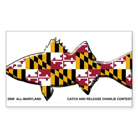 Maryland Flag Rockfish- Catch and Release Sticker