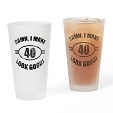 Cute Sexy 40 Drinking Glass