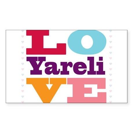 I Love Yareli Sticker (Rectangle)