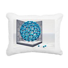 Fullerene molecule - Rectangular Canvas Pillow