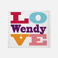 I Love Wendy Throw Blanket