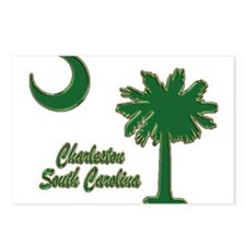 Charleston 6 Postcards (Package of 8)