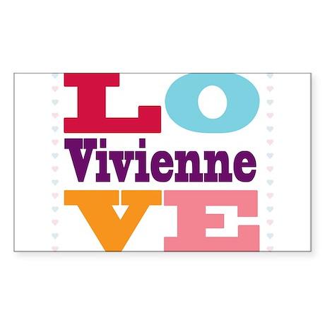 I Love Vivienne Sticker (Rectangle)