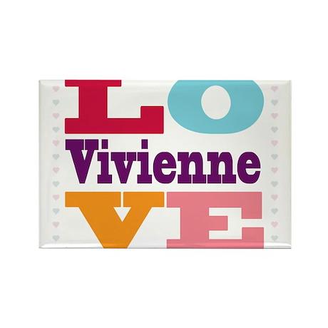 I Love Vivienne Rectangle Magnet