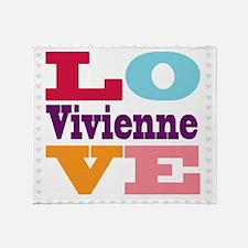I Love Vivienne Throw Blanket