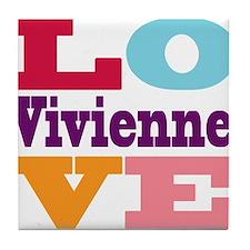 I Love Vivienne Tile Coaster
