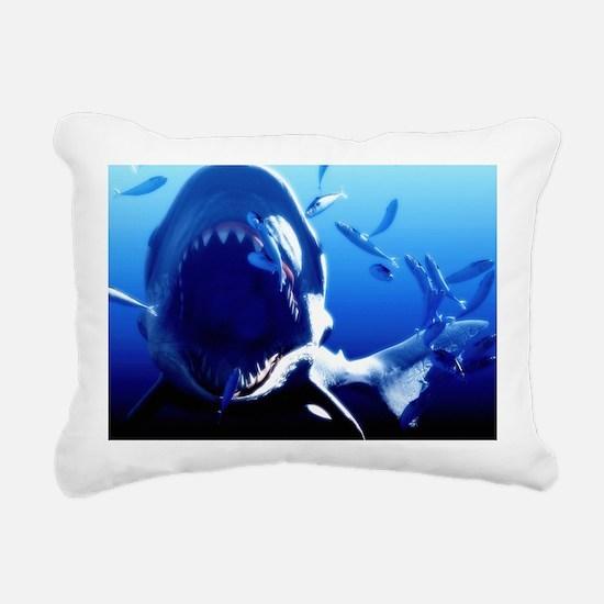 Megalodon prehistoric shark - Rectangular Canvas P