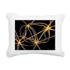 Neural network, artwork - Rectangular Canvas Pillo
