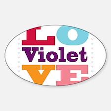 I Love Violet Sticker (Oval)