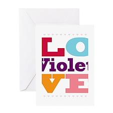 I Love Violet Greeting Card