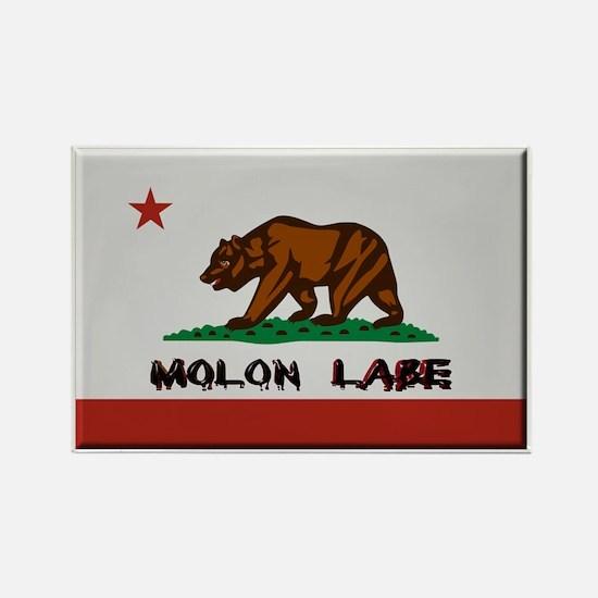 California Flag Molon Labe Rectangle Magnet (10 pa