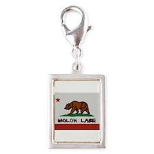 California Flag Molon Labe Silver Portrait Charm