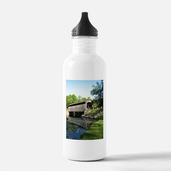 Fallasburg Covered Bridge Water Bottle