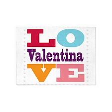 I Love Valentina 5'x7'Area Rug