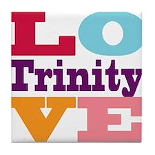 I Love Trinity Tile Coaster