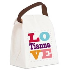 I Love Tianna Canvas Lunch Bag