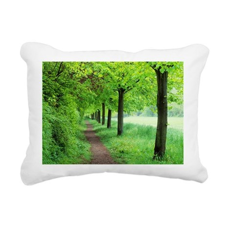 Woodland trail - Rectangular Canvas Pillow