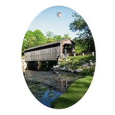 Fallasburg Covered Bridge Ornament (Oval)