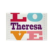 I Love Theresa Rectangle Magnet