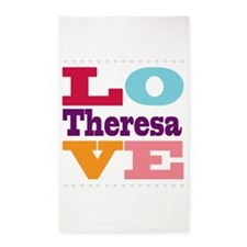 I Love Theresa 3'x5' Area Rug