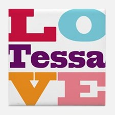 I Love Tessa Tile Coaster